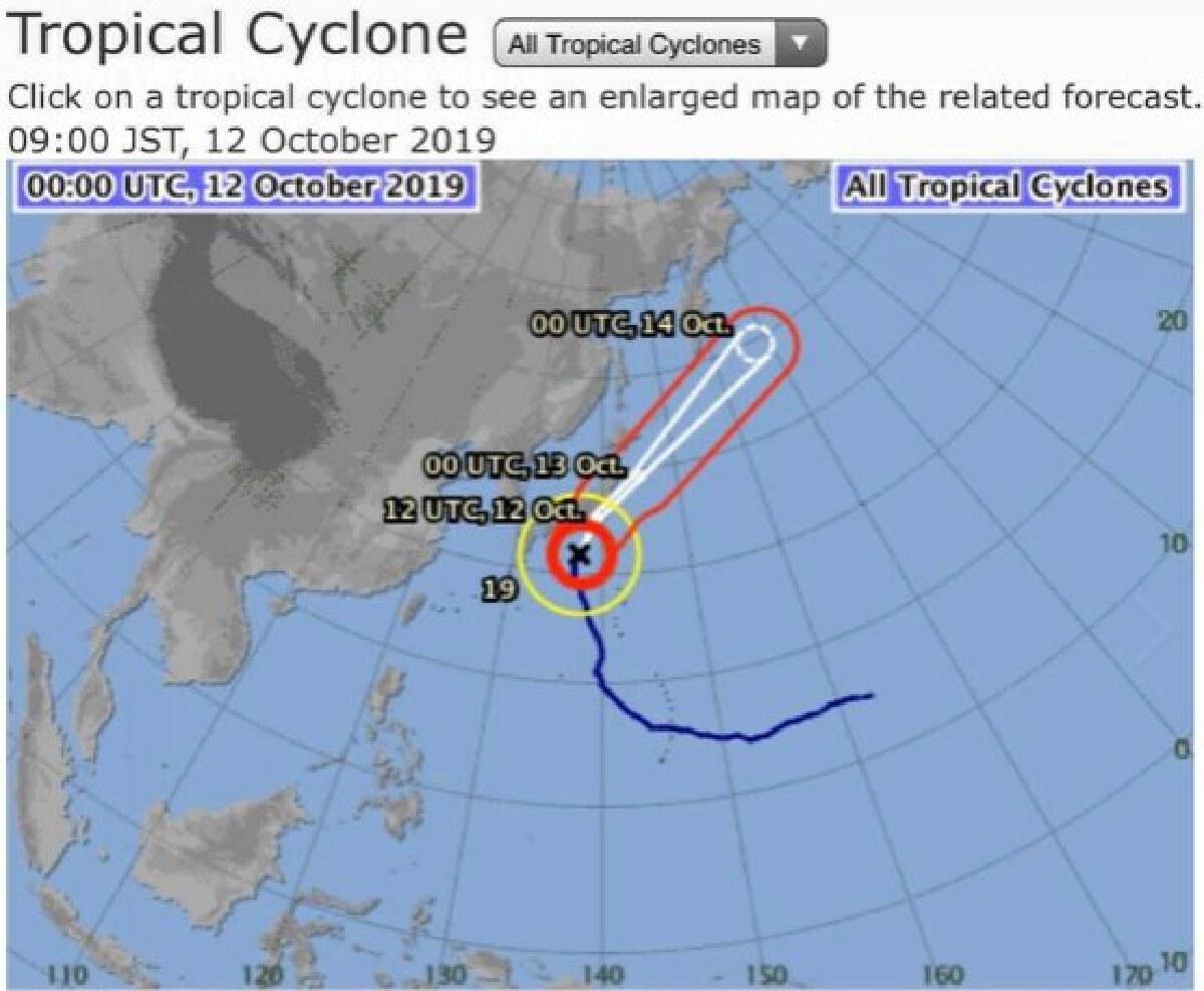 พายุไต้ฝุ่น ฮากิบิส ถึงญี่ปุ่นแล้ว ทำไฟดับ 4.8 แสนครัวเรือน