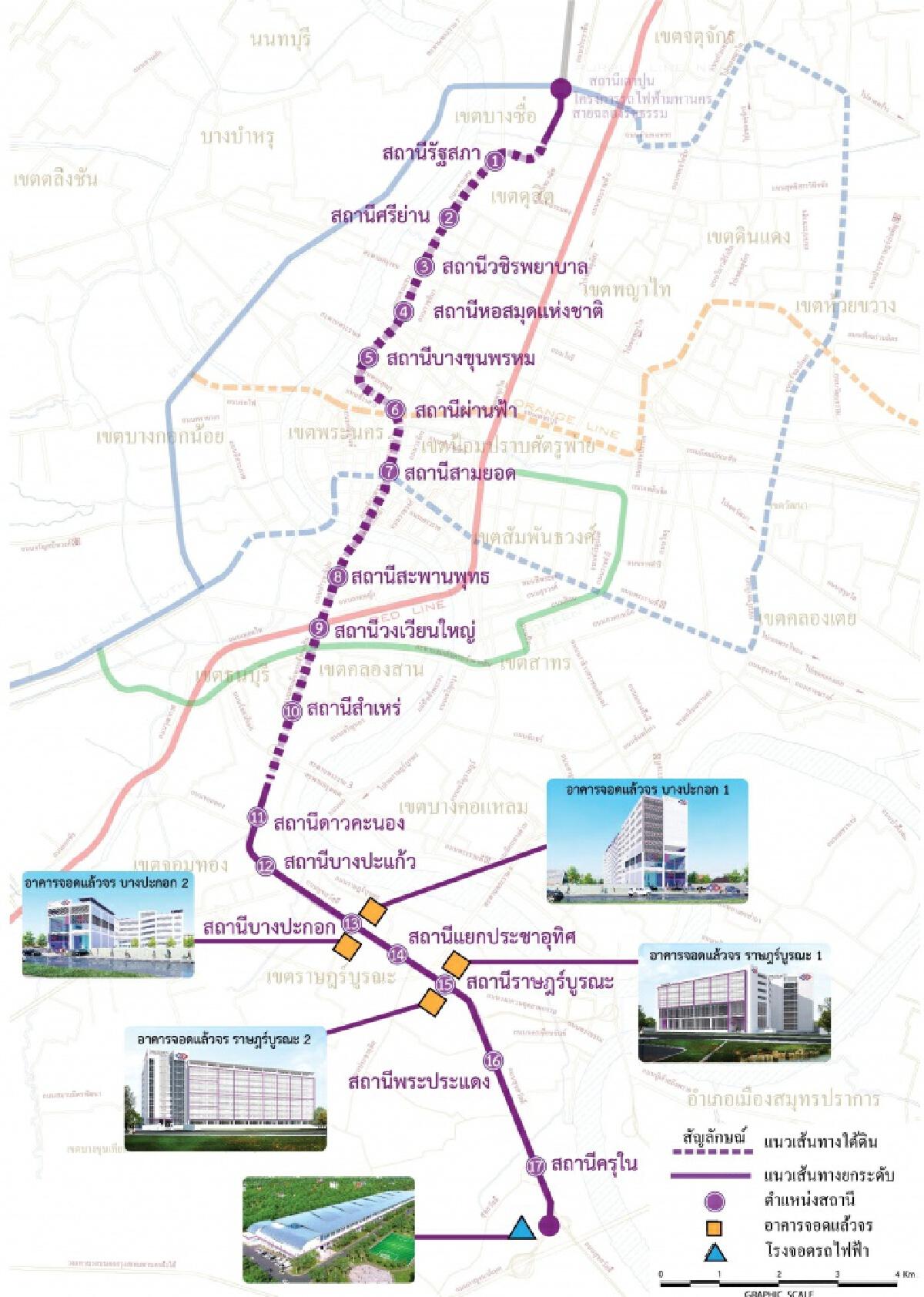 'รฟม.'ประมูลรถไฟฟ้าสายสีม่วงใต้ 1 แสนล้าน มีแผนเปิดบริการ 2570