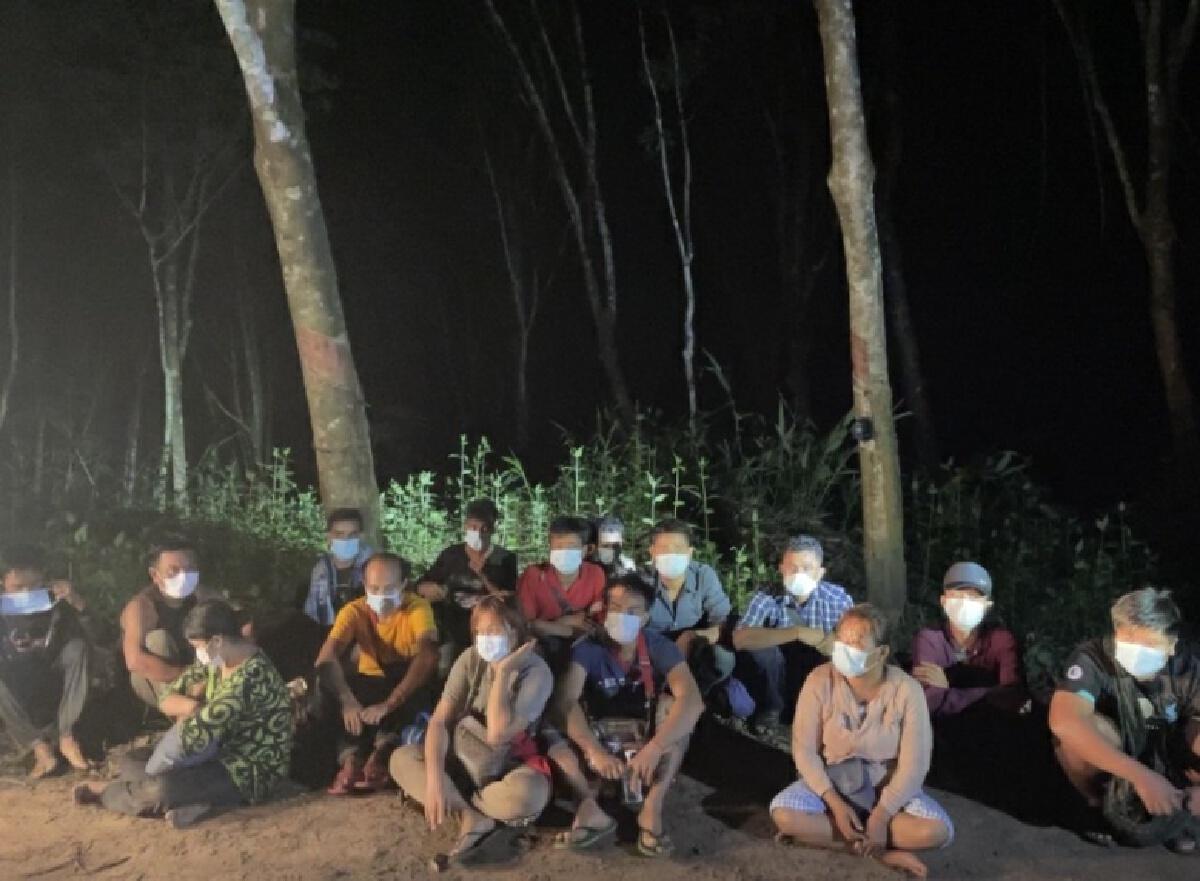 รวบ16 ชาวเมียนมา ชายแดนสังขละบุรี ตั้งใจจะไปหางานทำใน กทม.