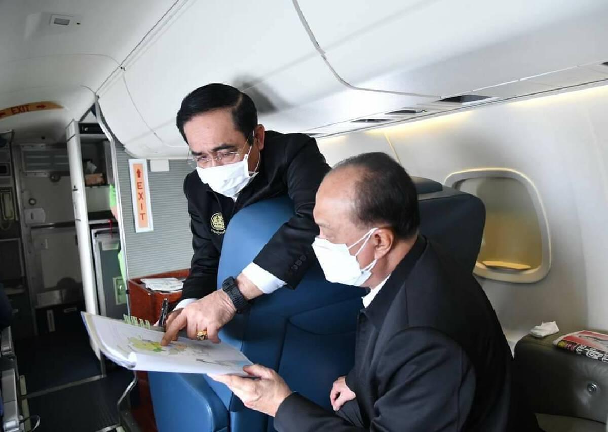 พล.อ.ประยุทธ์ จันทร์โอชา นายกฯ และพล.อ.อนุพงษ์ เผ่าจินดา รมว.มหาดไทย วางแผนช่วยเหลือพี่น้องประชาชนที่ได้รับผลกระทบจากอุทกภัย