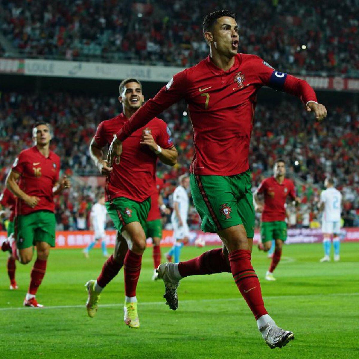 """โรนัลโด เพิมสถิติใหม่ทีมชาติ """"โปรตุเกส"""" ในศึก ฟุตบอลโลกรอบคัดเลือก"""