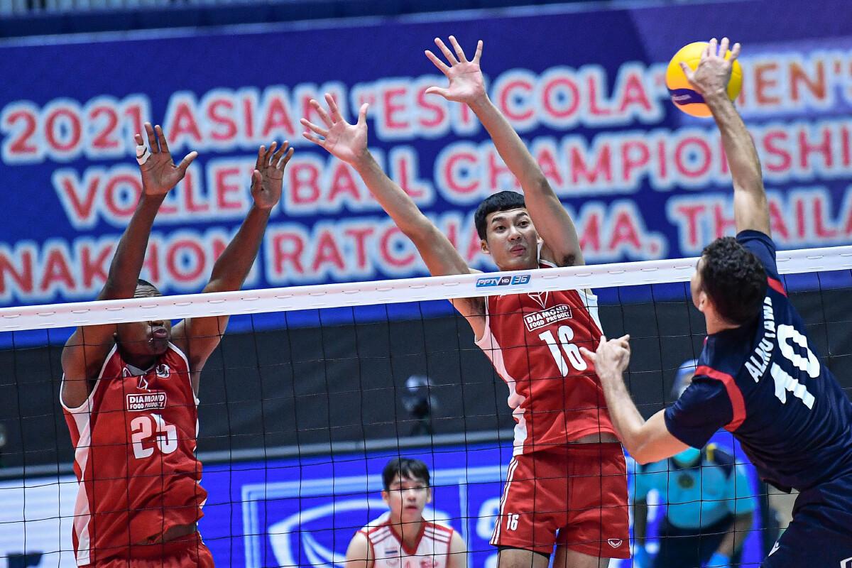 """คูเวต ล้างแค้น """"ไดมอนด์ฟู้ด"""" ทีมตบไทยร่วงชิงอันดับ 7 วอลเลย์บอลเอเชีย"""