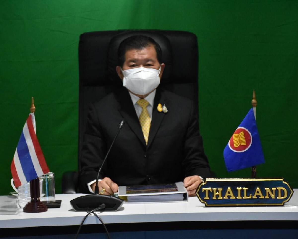 """""""นิพนธ์"""" ตัวแทน มท.ไทยประชุม """"รัฐมนตรีอาเซียน"""" ด้านจัดการภัยพิบัติ"""