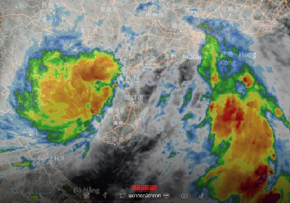 """""""พยากรณ์อากาศ"""" วันนี้ เตือน """"ไลออนร็อก"""" เกือบทั่วไทยฝนตกหนัก กทม. 30%"""